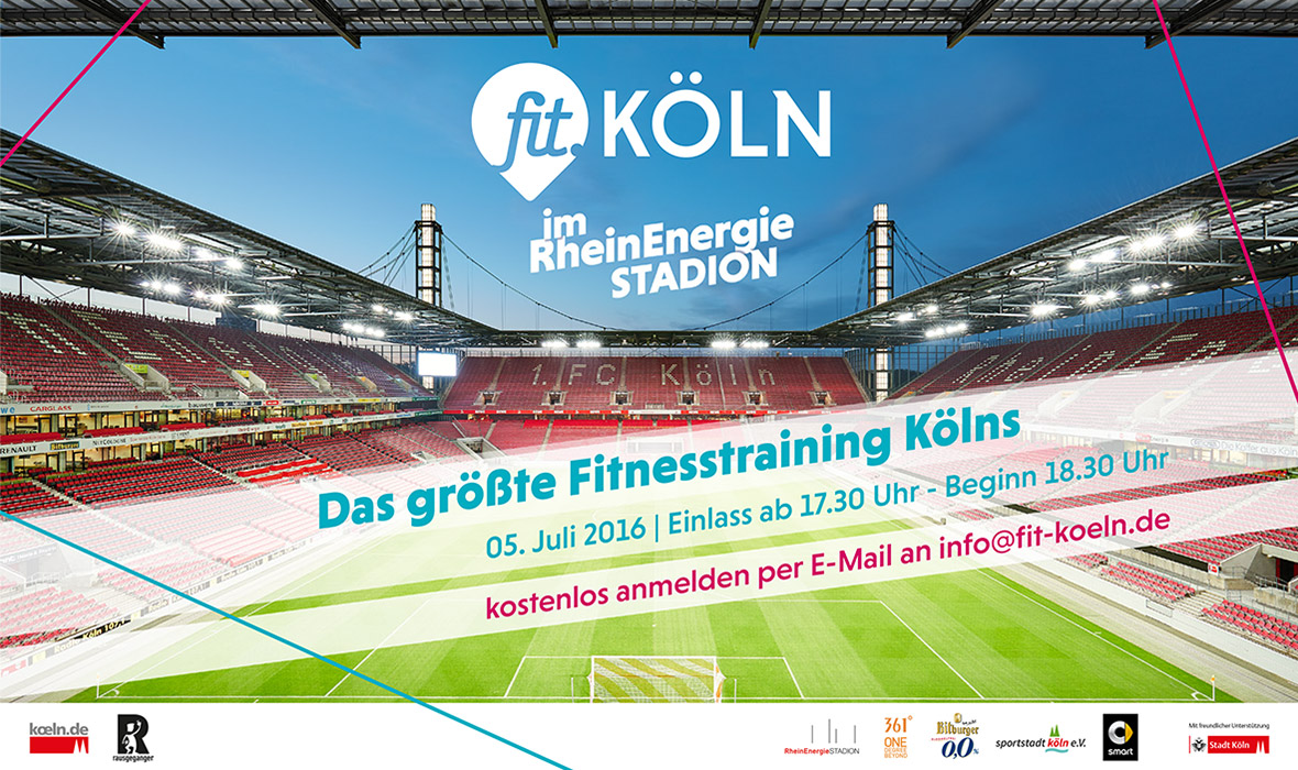 fit Köln RheinEnergie Stadion Training